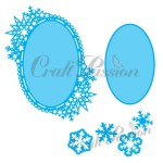 Set of Craft Dies winter oval frame