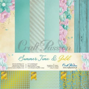 Summer Time & Gold - paper set 30,5x30,5cm