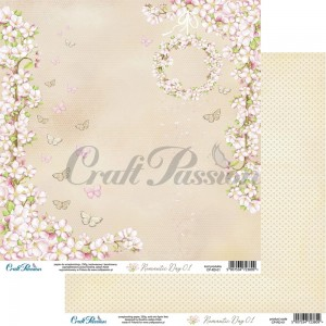 Romantic Day 01 - papier scrapbookingowy 30,5x30,5cm