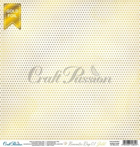 Romantic Day 01 Gold - papier scrapbookingowy 30,5x30,5cm
