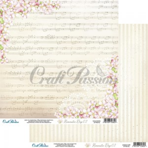 Romantic Day 02 - papier scrapbookingowy 30,5x30,5cm