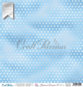 Glamour Dreams 01 Silver - scrapbooking paper 12''x12''
