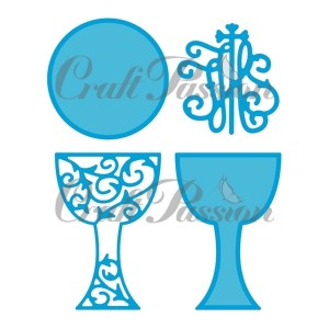 Set of Craft Dies Chalice and host #3
