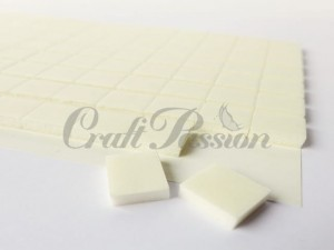 Double-sided adhesive 3D foam pads 3mm, 10x12mm x96pcs. white