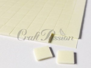 Double-sided adhesive 3D foam pads 1,5mm, 10x10mm x150pcs. white