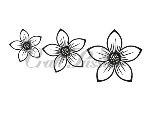 Craft Stamp Flowers no.3