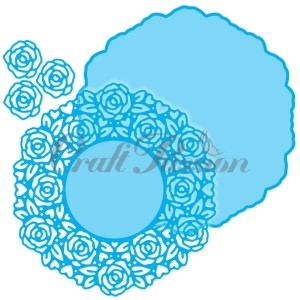 Set of Craft Dies doily #4 roses