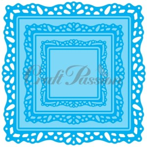 Set of Craft Dies square frames
