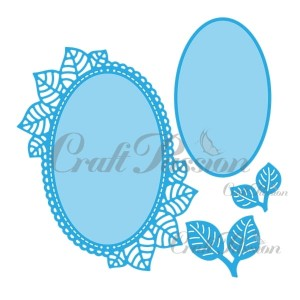 Set of Craft Dies Oval frame with leaves