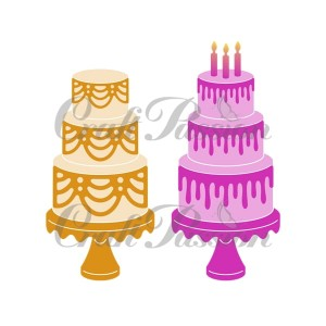 Set of Craft storey cake