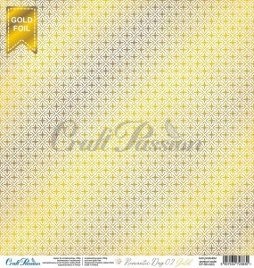 Romantic Day 02 Gold - papier scrapbookingowy 30,5x30,5cm