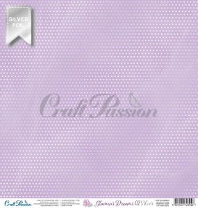 Glamour Dreams 02 Silver - scrapbooking paper 12''x12''