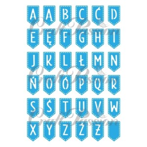 Set of Craft Dies banners with alphabet